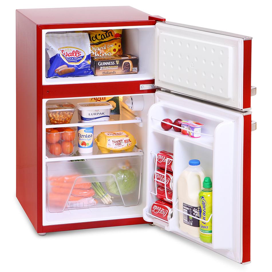montpellier mab2030k r mini retro fridge freezer undercounter. Black Bedroom Furniture Sets. Home Design Ideas