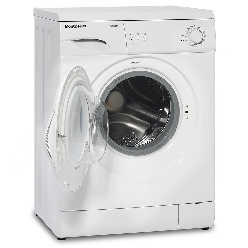 Standard Washing Machine Width Montpellier Mw5100p Freestanding Washing Machine