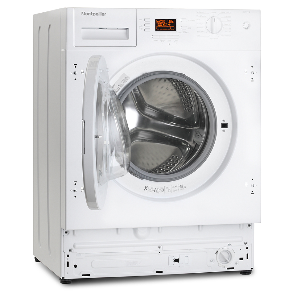 Slimline integrated washing machine