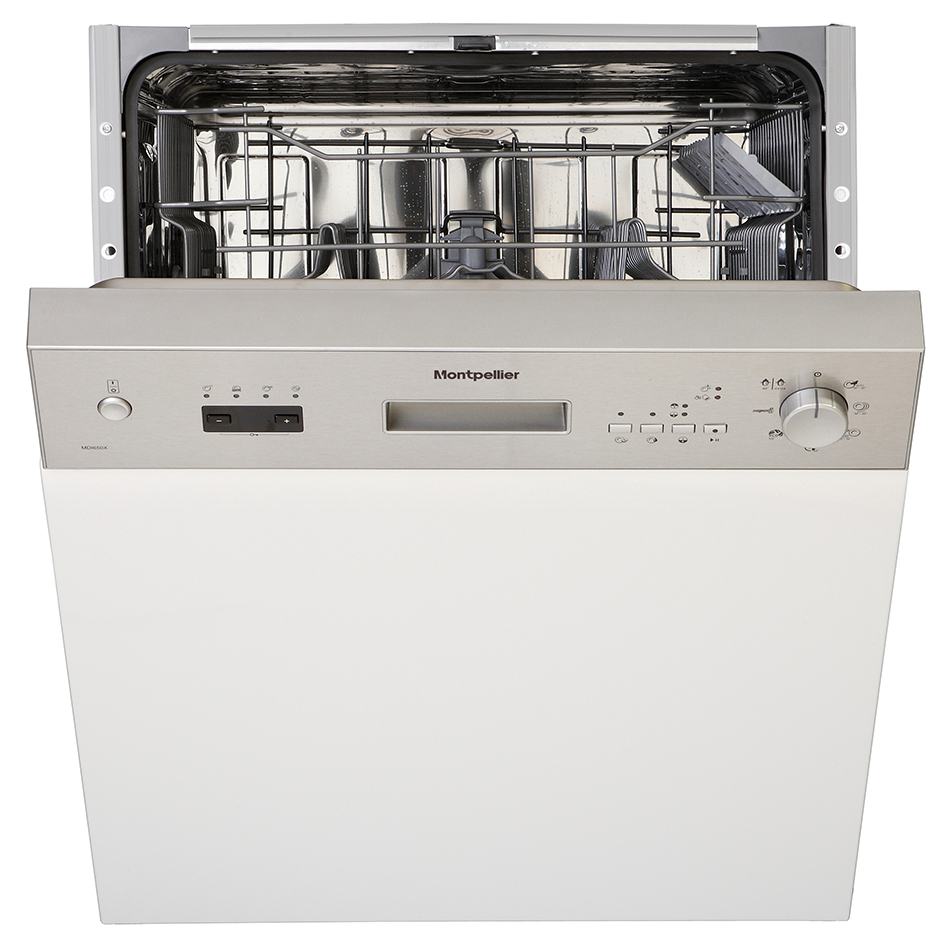 Montpellier MDI650X/W/K Semi Integrated Dishwasher