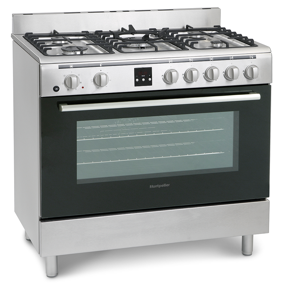 Montpellier MR90DFMX Dual Fuel Range Cooker
