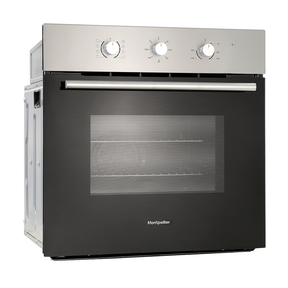 Montpellier SFO66MX Single Built-In Oven, Electric, Stainless Steel
