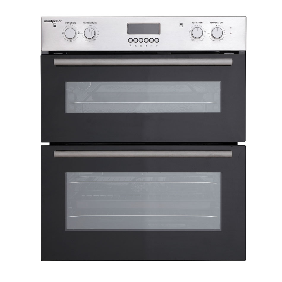 montpellier mdo70x double built under oven electric stainless. Black Bedroom Furniture Sets. Home Design Ideas