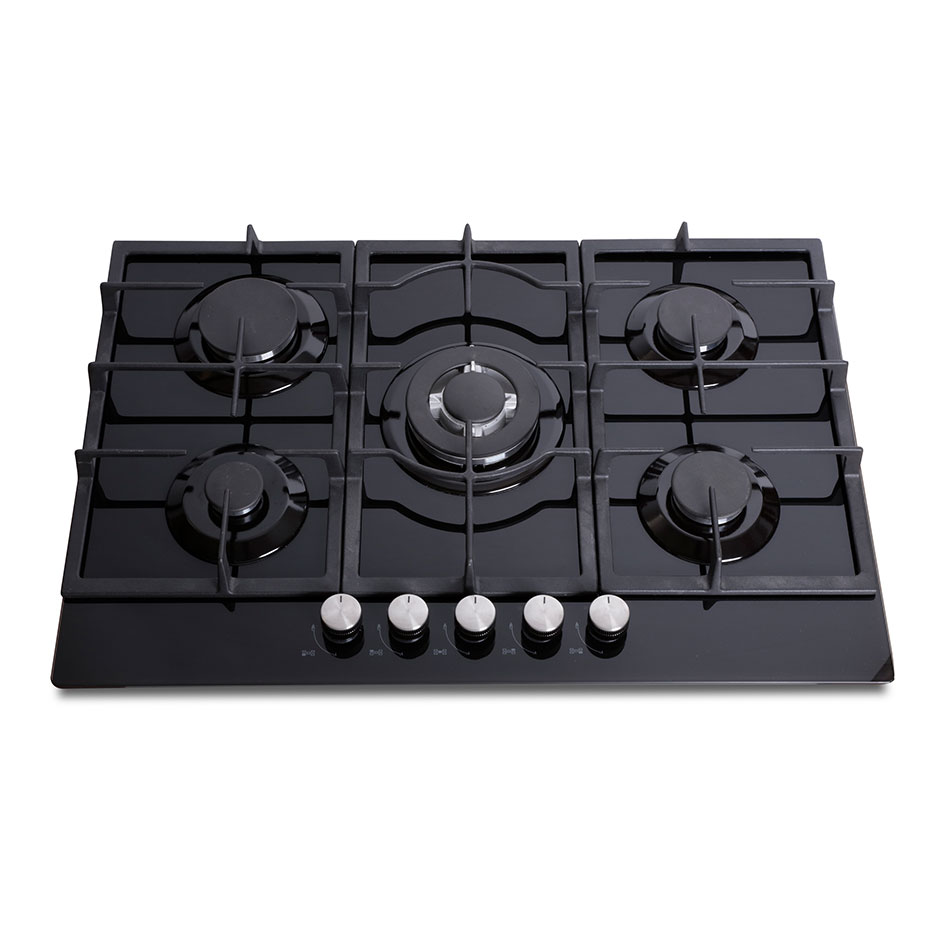 Montpellier GH75BG Gas on Glass Hob