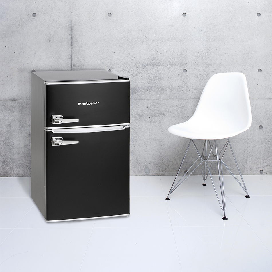 montpellier mab2030k r mini retro fridge freezer undercounter. Black Bedroom Furniture Sets. Home Design Ideas
