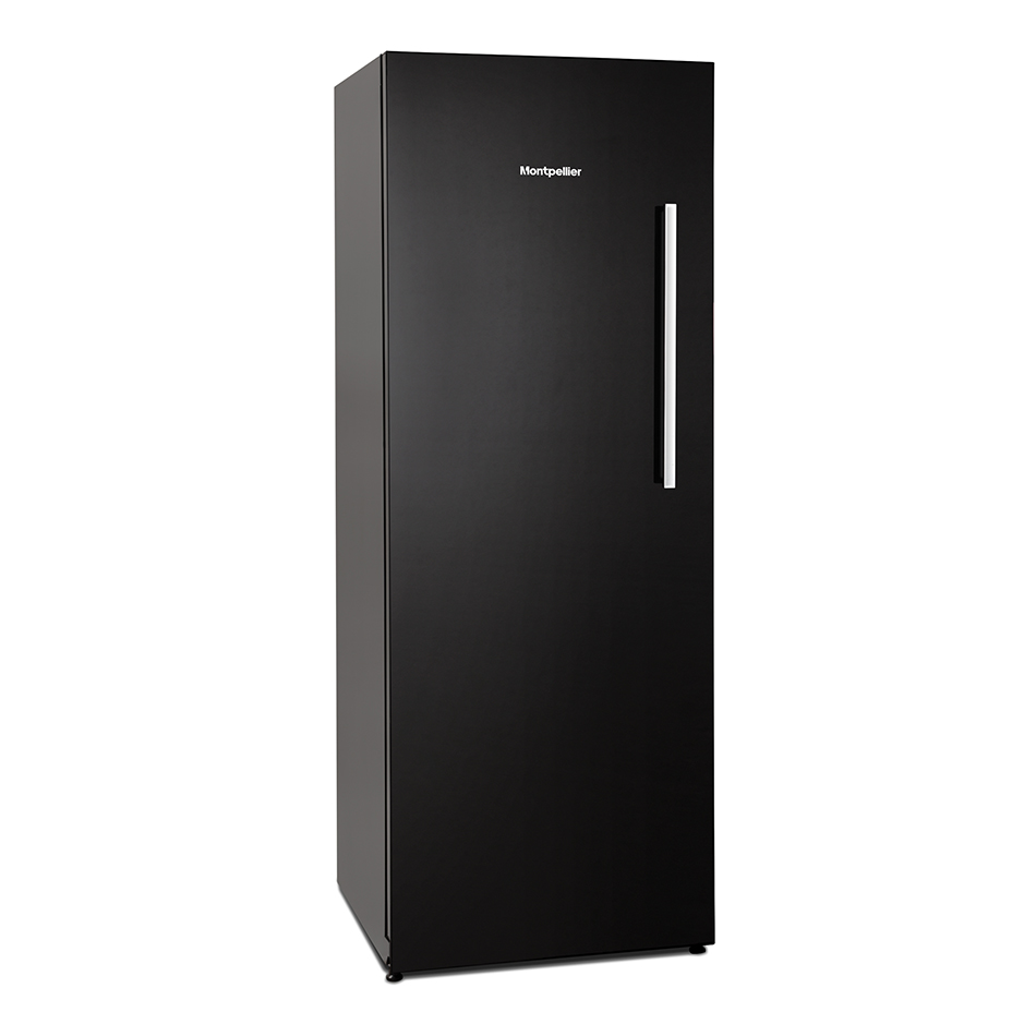 Montpellier MZM201BG Tall Black Glass Freezer