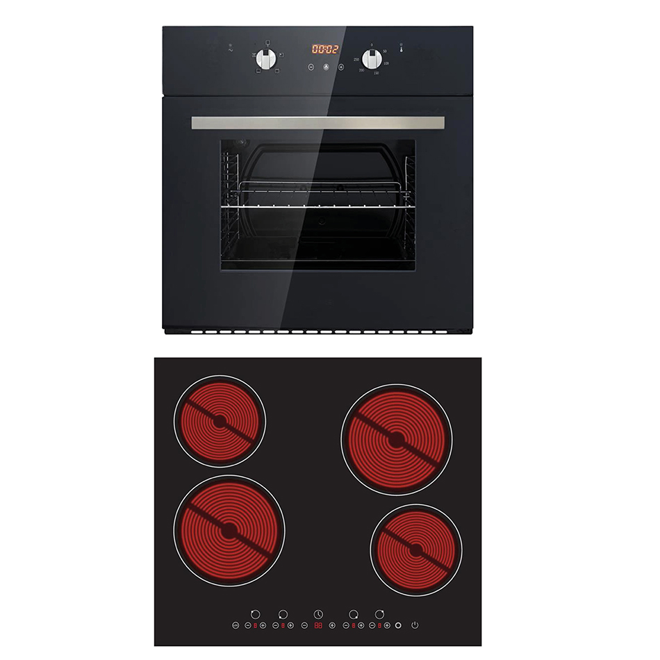 Montpellier FOCHP644Z Integrated Oven & Hob Pack Cooking