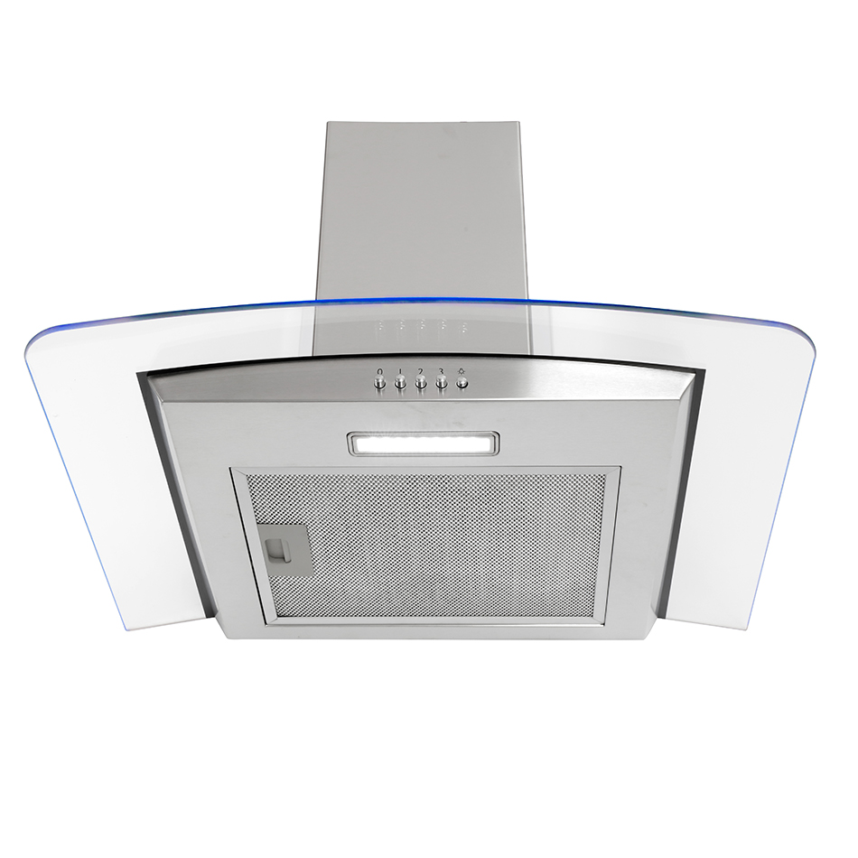 Montpellier MHE600LX Glass Chimney Hood