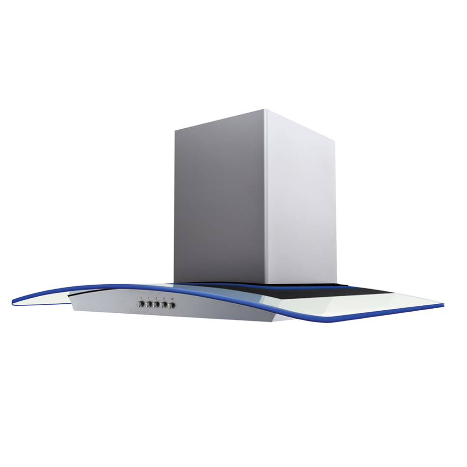 Montpellier CHG913MSS-EDGE Curved Glass Chimney Hood