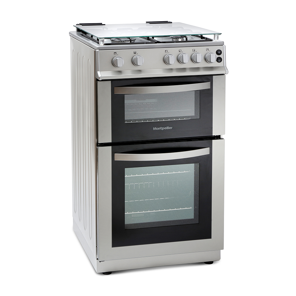 Montpellier MDG500LS 50cm Gas Double Oven