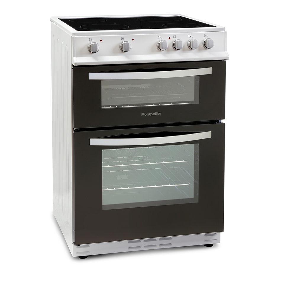 Montpellier MTC60FW Twin Cavity 60cm Electric Cooker