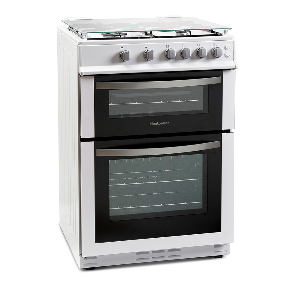 Montpellier MDG600LW 60cm Gas Double Oven