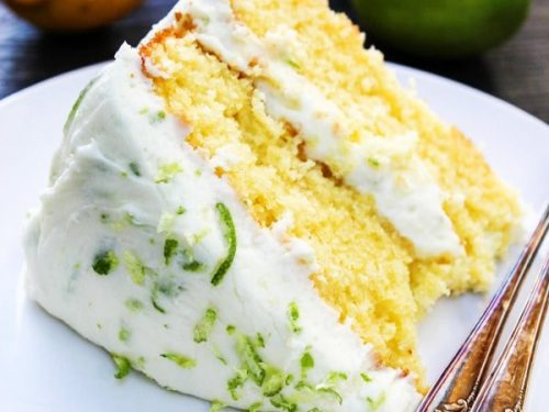 lemon & lime layer cake
